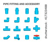 vector icon of pipe fitting or... | Shutterstock .eps vector #417323488