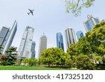greenbelt park in lujiazui... | Shutterstock . vector #417325120