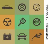 car icons | Shutterstock .eps vector #417329068