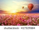 landscape of beautiful cosmos... | Shutterstock . vector #417329884