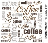 vector coffee background | Shutterstock .eps vector #417332149