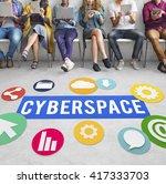 cyberspace online technology... | Shutterstock . vector #417333703