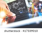 medical technology concept.... | Shutterstock . vector #417339010