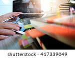 business documents on office... | Shutterstock . vector #417339049