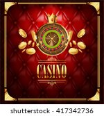 vector casino gambling game ... | Shutterstock .eps vector #417342736