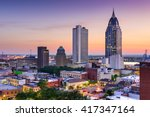 mobile  alabama  usa downtown... | Shutterstock . vector #417347164