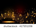abstract musical background... | Shutterstock . vector #417351358