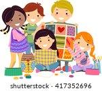stickman illustration of kids... | Shutterstock .eps vector #417352696