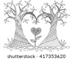 Abstract Trees In Heart Shape ...