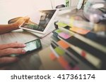 business documents on office... | Shutterstock . vector #417361174