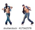 dancer dancing on the white | Shutterstock . vector #417362578