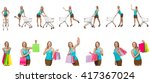 woman in shopping concept... | Shutterstock . vector #417367024