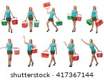 composite photo of woman with... | Shutterstock . vector #417367144