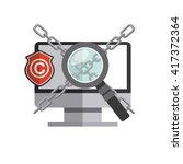 copyright symbol design  | Shutterstock .eps vector #417372364