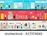 shopping center and boutique... | Shutterstock .eps vector #417376060