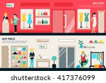 shopping center and boutique... | Shutterstock .eps vector #417376099