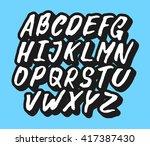 handwritten comic alphabet | Shutterstock .eps vector #417387430