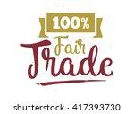 international fair trade day....   Shutterstock .eps vector #417393730