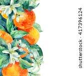 Watercolor Mandarine Orange...