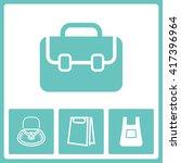 handbag pictogram. web vector... | Shutterstock .eps vector #417396964