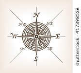 compass rose sketch style... | Shutterstock . vector #417398536