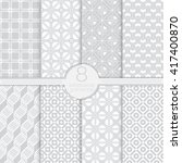 set of seamless patterns.... | Shutterstock .eps vector #417400870