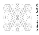 mystical geometry symbol.... | Shutterstock .eps vector #417407338