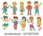 funny cartoon character. eps10... | Shutterstock .eps vector #417407359
