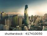 top view   modern building in... | Shutterstock . vector #417410050