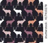 seamless decorative vector... | Shutterstock .eps vector #417410278