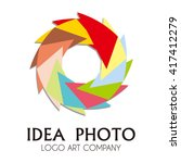 photo shoot hexagon of colorful ... | Shutterstock .eps vector #417412279