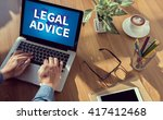 Small photo of LEGAL ADVICE (Legal Advice Compliance Consulation Expertise Help) man hand on table Business, coffee, Split tone