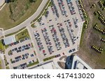 aerial view over crowded car... | Shutterstock . vector #417413020