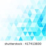 blue grid mosaic background ... | Shutterstock .eps vector #417413830