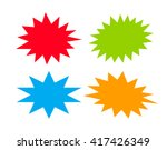 bursting speech star set ... | Shutterstock .eps vector #417426349