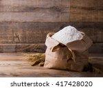 Wheat Flour In Kraft Paper Bag...