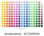 color palette.bright vector... | Shutterstock .eps vector #417429424