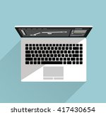 electronic device white laptop. ... | Shutterstock .eps vector #417430654