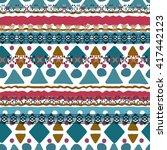 ethnic boho seamless pattern.... | Shutterstock .eps vector #417442123