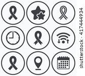 clock  wifi and stars icons.... | Shutterstock .eps vector #417444934
