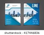vector illustration blue annual ... | Shutterstock .eps vector #417446836