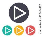 vector flat play button icon...
