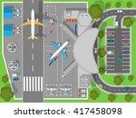airport top view. terminal... | Shutterstock .eps vector #417458098