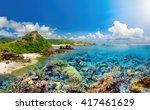 beatiful coral reef around...   Shutterstock . vector #417461629