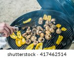 grilled yellow paprika and... | Shutterstock . vector #417462514
