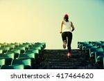 young fitness woman runner... | Shutterstock . vector #417464620