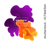 vector abstract color cloud. ... | Shutterstock .eps vector #417466564