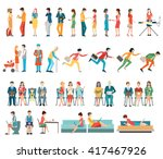 crowd of people characters... | Shutterstock .eps vector #417467926