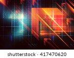 abstract arrows technology... | Shutterstock . vector #417470620