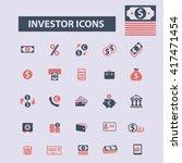 investor icons  | Shutterstock .eps vector #417471454